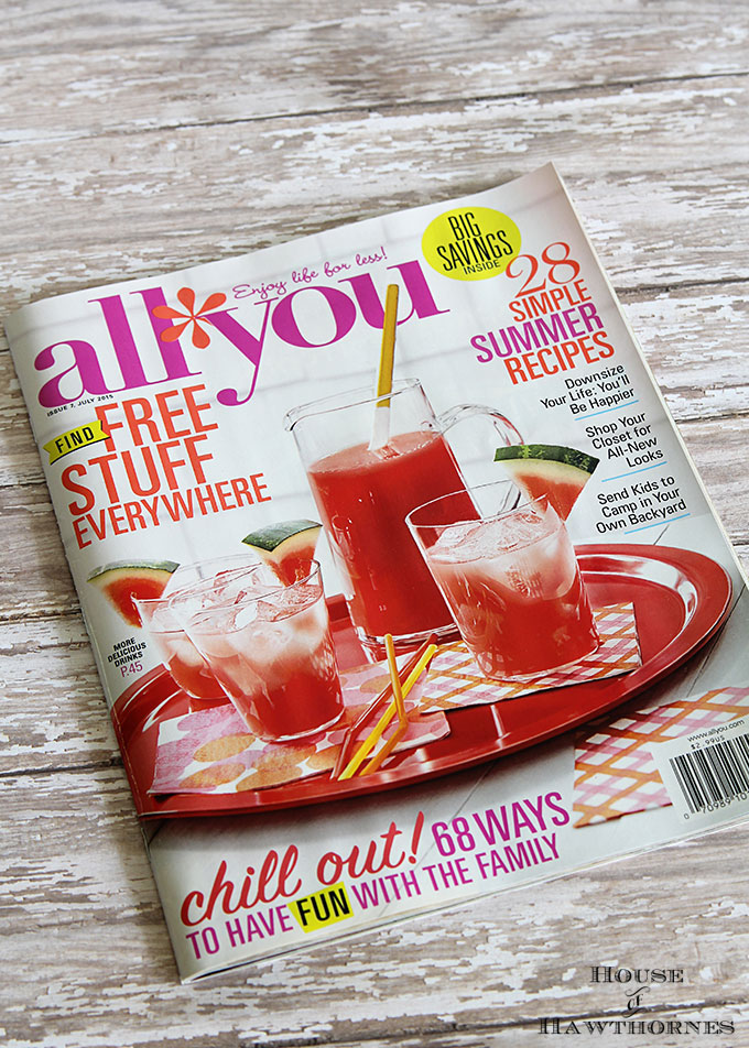 July 2015 All You Magazine feature