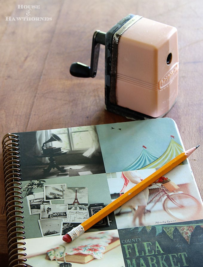 Vintage pink pencil sharpener