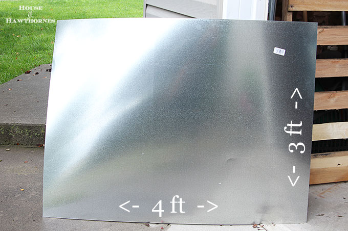 Diy zinc top table house of hawthornes for Zinc countertop cost