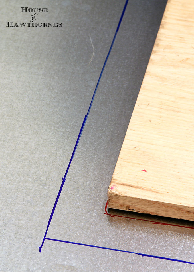 DIY instructions for making a zinc top table. Dining table could be used inside or outside. Galvanized sheet metal was used to keep the cost low.