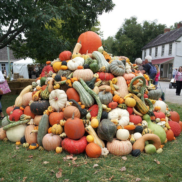 Pumpkin tower at Country Living Fair in Columbus, Ohio