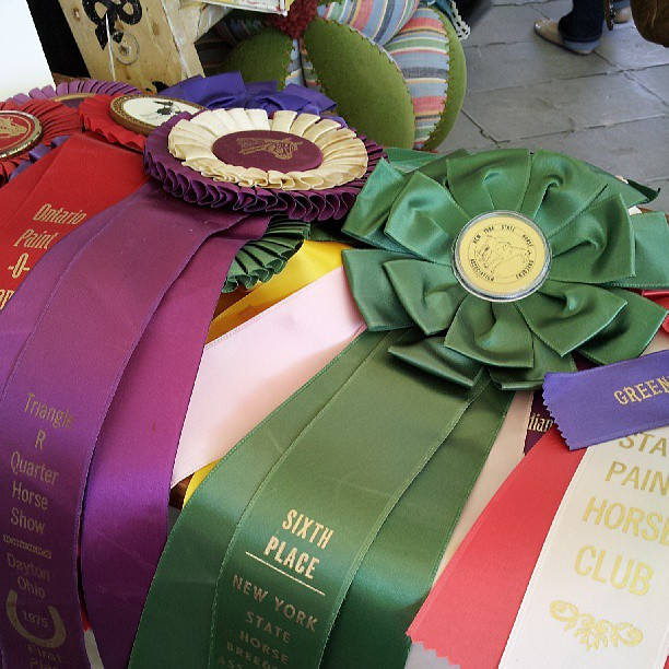 Vintage fair ribbons at the Country Living Fair
