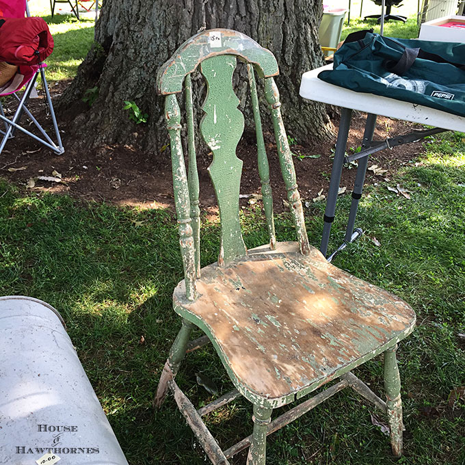 Follow along on the World's Longest Yard Sale aka the 127 Yard Sale and see what we found. Including a yard sale makeover with Krylon paint.