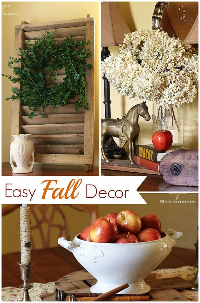 Inexpensive fall centerpiece house of hawthornes