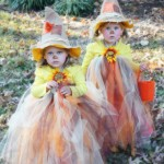 Adorable tutu scarecrow costume for Halloween from designertrapped.com