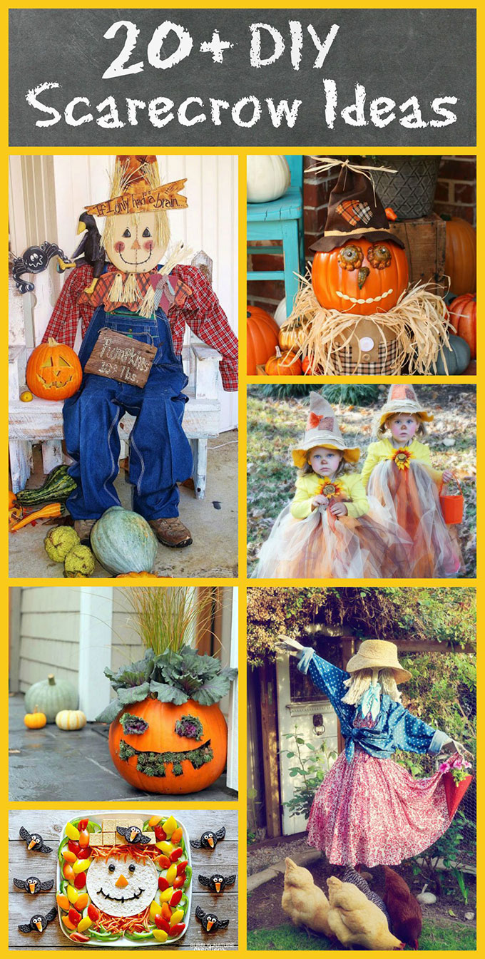Over 20 scarecrow ideas for your fall home decor. Scarecrows aren't just for the garden anymore!