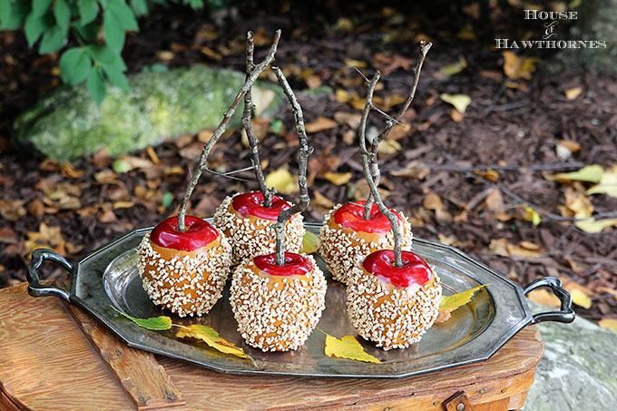 Making Faux Caramel Apples For Fall Decor House Of