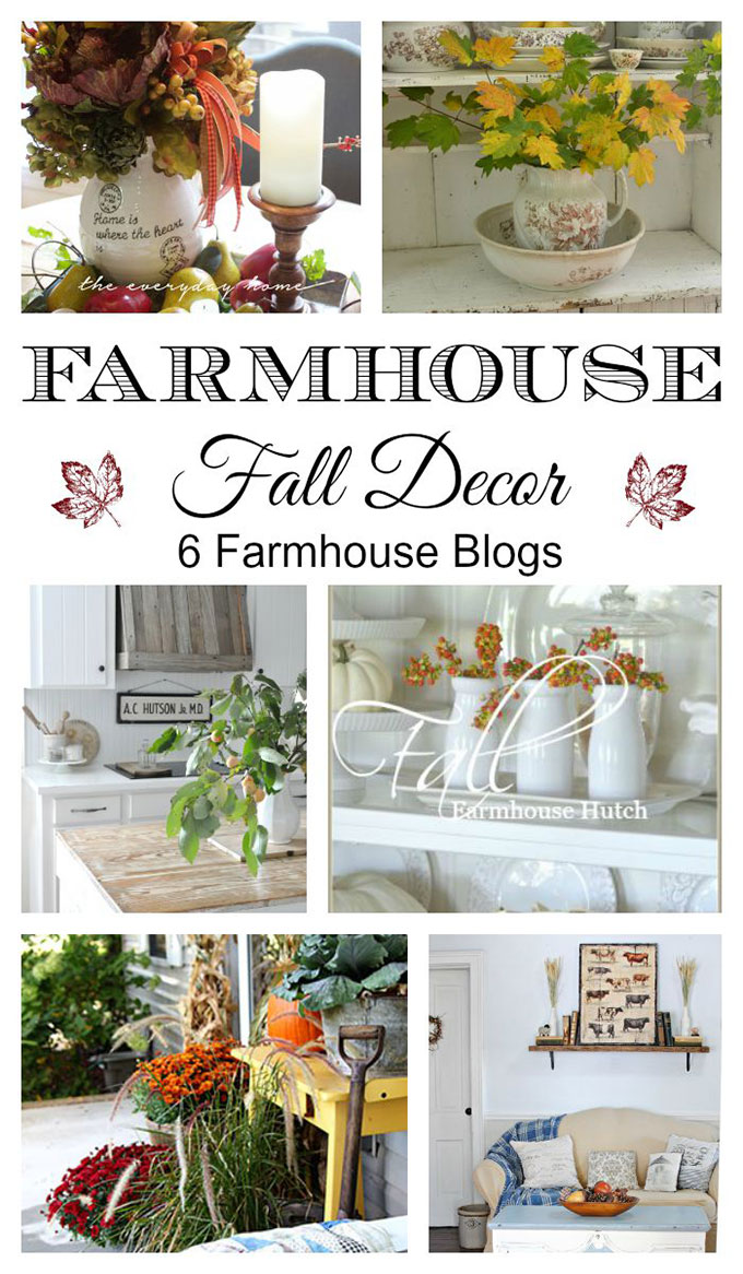 6 blogs full of FALL FARMHOUSE decorating ideas. Lots of inspiration for fall for the farmhouse, vintage or eclectic decor lover.