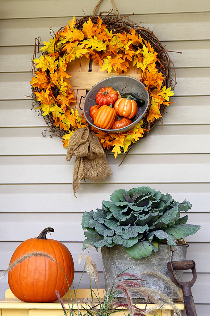 DIY rustic farmhouse fall wreath from House Of Hawthornes