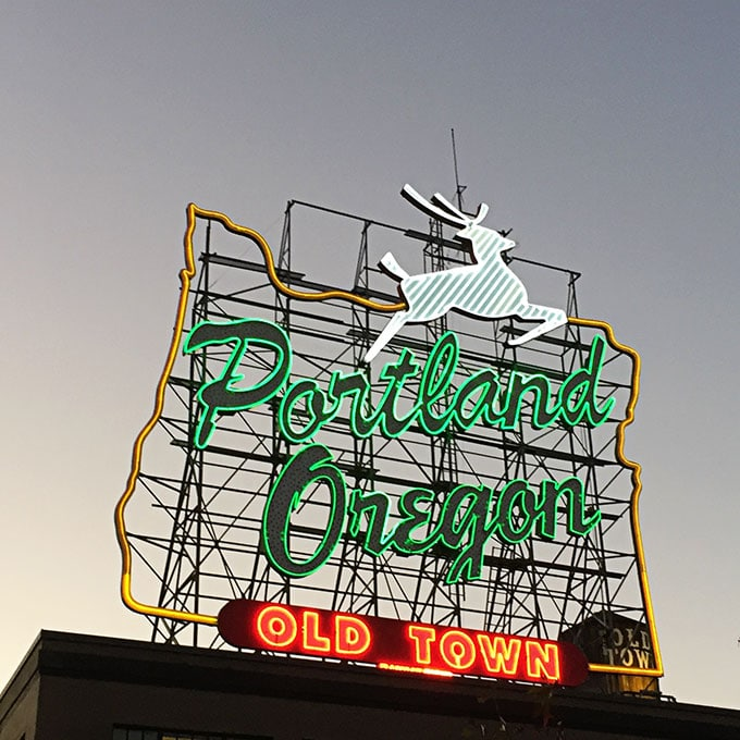 White Stag Sign in Portland Oregon