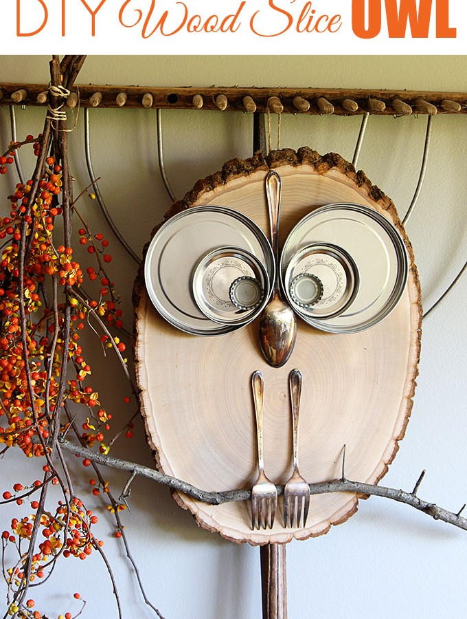DIY Wood Slice Owl