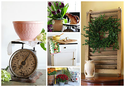 farmhouse friday photos - Vintage Farmhouse Christmas Decor