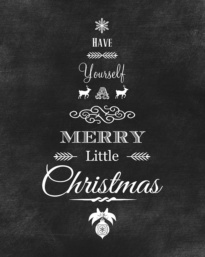 print out these free high resolution chalkboard printables for the holidays they come in both - Free Christmas Pictures To Print 2