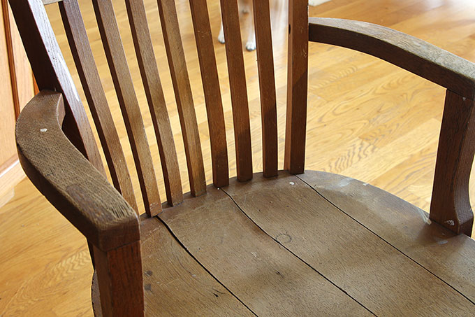 breathing new life into an oak chair with chalk paint and a stencil a