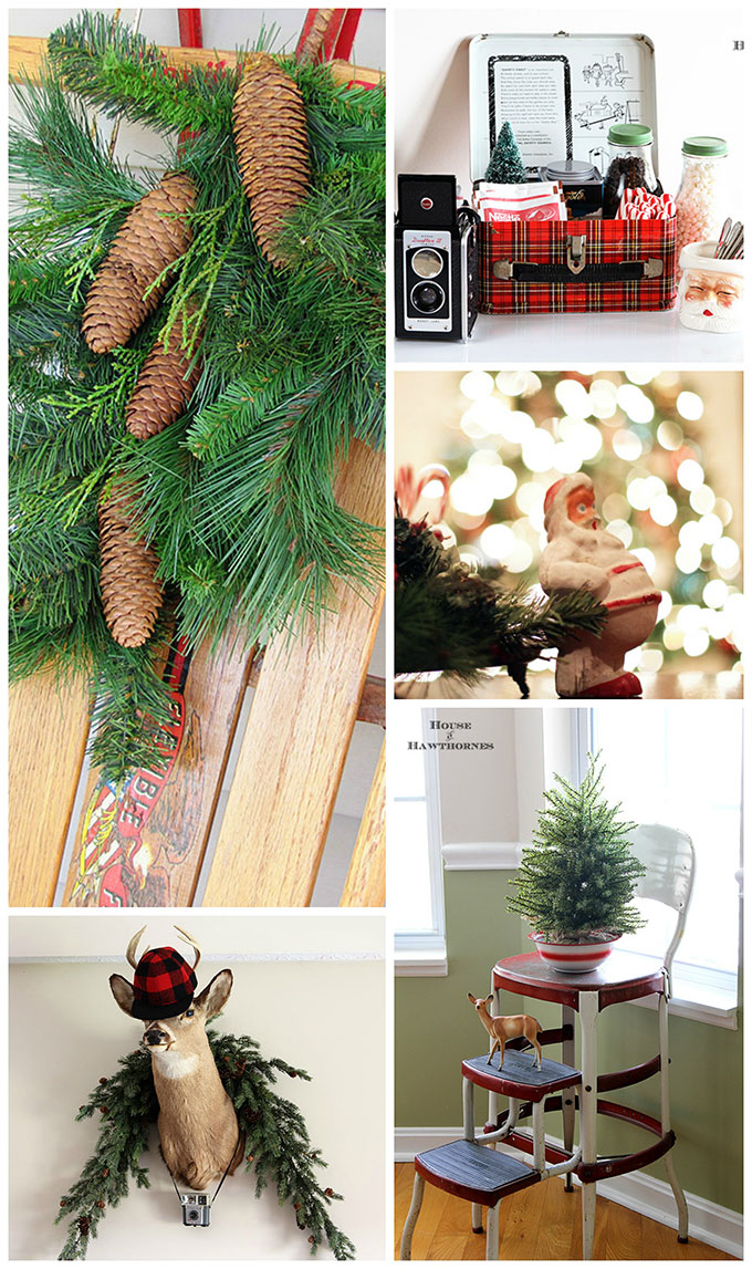 LOTS of unique Christmas ideas, inspiration and kitschy retro Christmas decor.