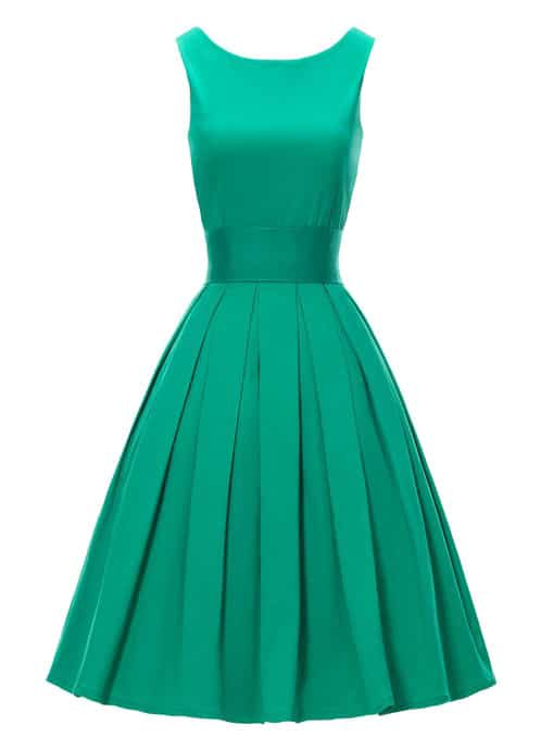Retro-Green-Dress