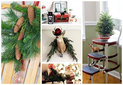 vintage christmas decor - Vintage Farmhouse Christmas Decor