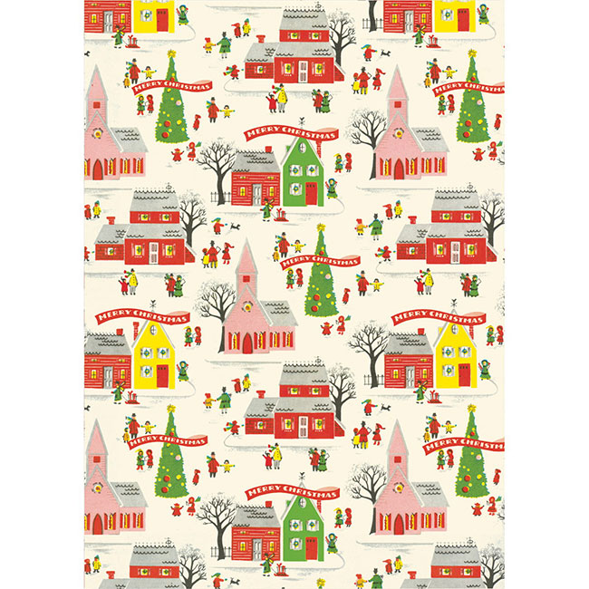 Vintage inspired Christmas wrapping paper