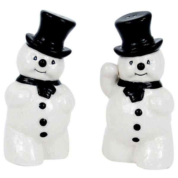 Reproduction vintage snowmen salt and pepper shakers