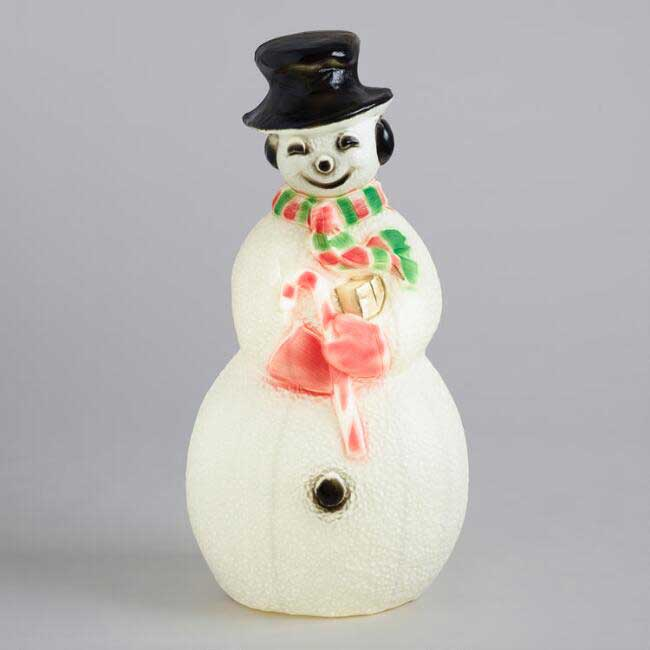 Retro styled snowman blow mold from World Market.