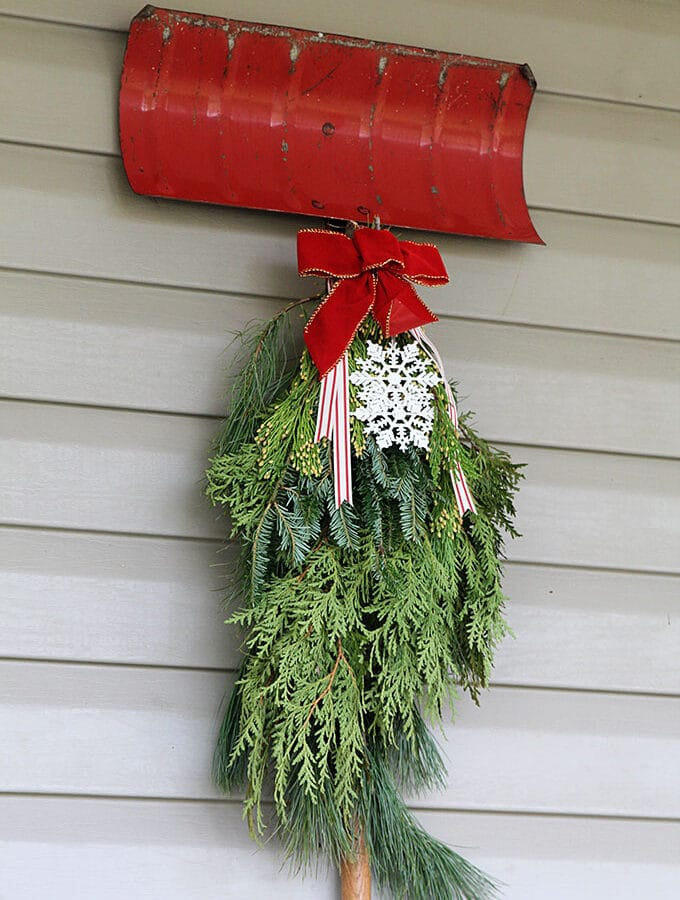 Traditional Christmas Porch Decor