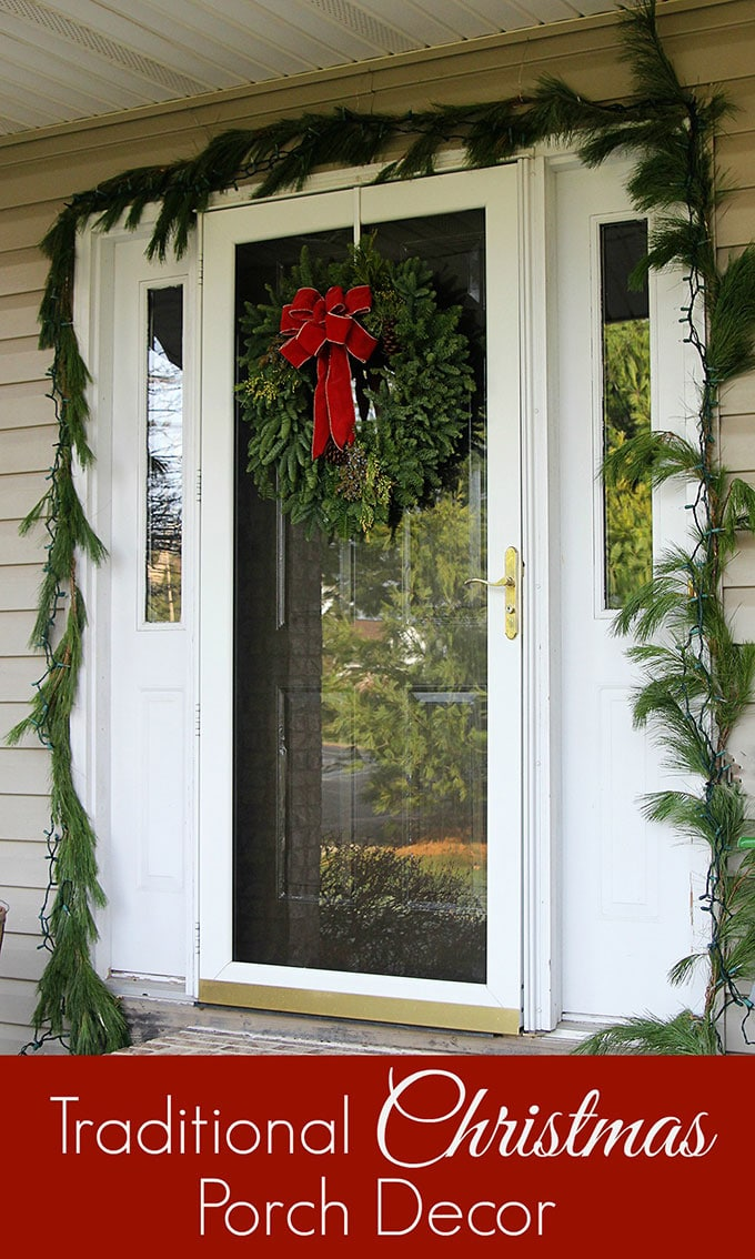 traditional christmas porch decor meets fun and funky just because you like a little red - Christmas Porch Decor