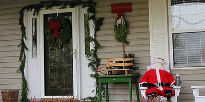 Traditional Christmas Porch