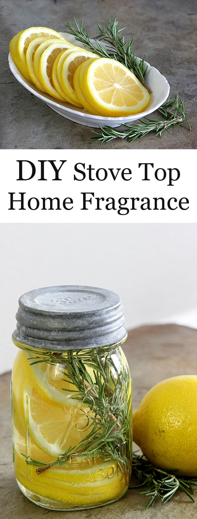 Learn how to make a DIY Stove Top Home Fragrance with just a few ingredients. A quick and easy potpourri recipe to make your home smell fresh and cozy! #homefragrances #roomscent #diyproject #diy #allnatural #potpourri