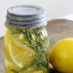 Learn how to make an all natural room scent with lemon, rosemary and vanilla. It's quick and easy and makes your home smell yummy and cozy!