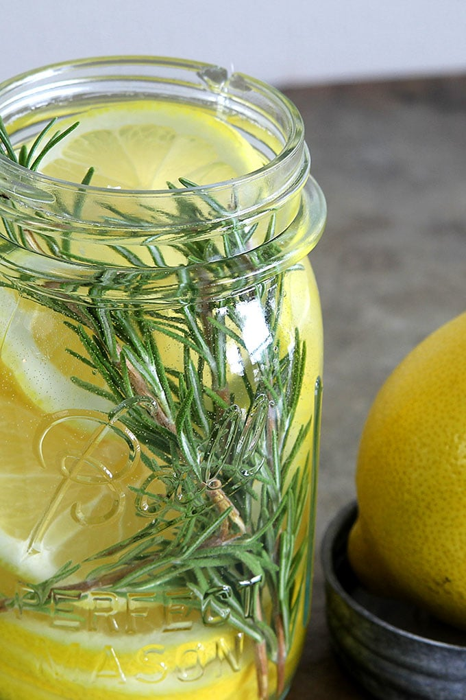 Lemon and rosemary DIY natural home scent
