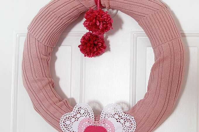 Sweater Wreath For Valentine's Day