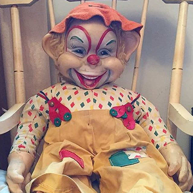 Scary clown doll from an estate sale