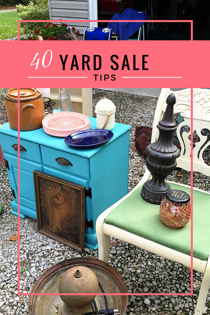 top 40 ultimate yard sale tips