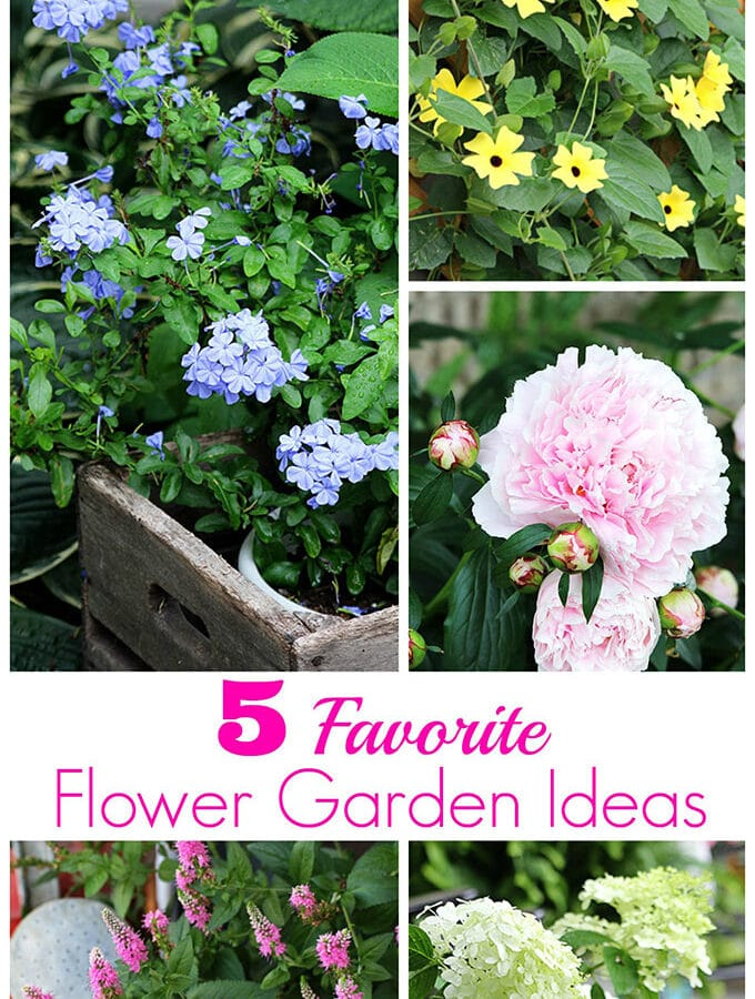 I've compiled my list of the 5 TOP inspiring flower garden ideas as picked by my readers. Both annuals and perennials for the garden are included.