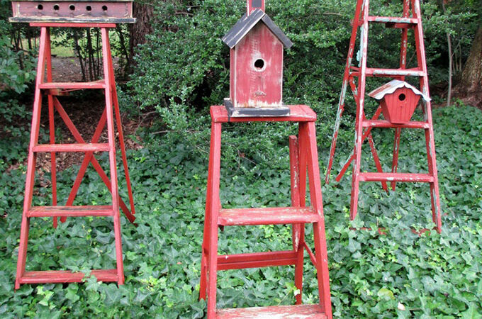 Wooden Ladders As Garden Art