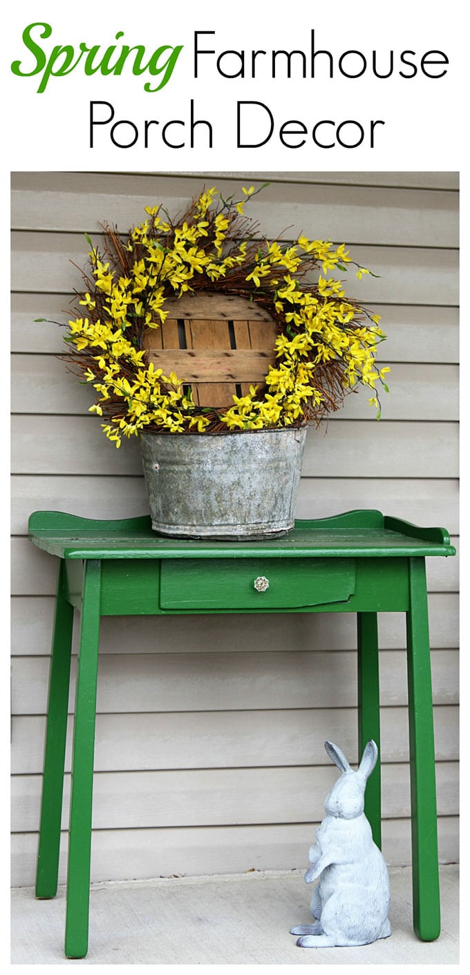 A Simple And Easy Farmhouse Spring Porch Decor Idea Made With Things Found In The Shed