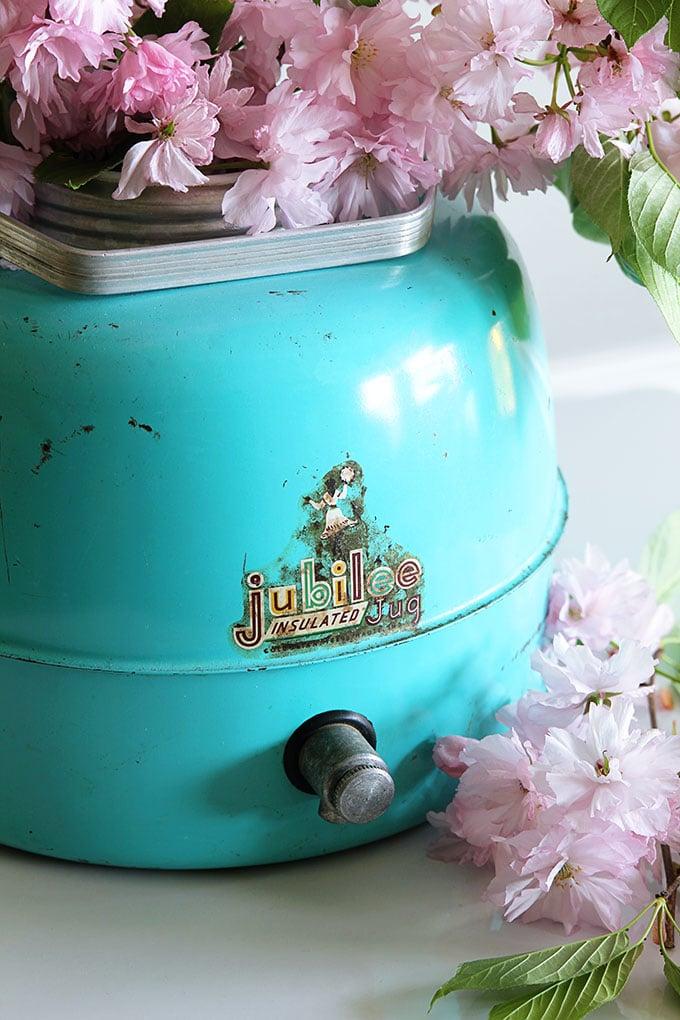 Turquoise vintage Jubilee insulated jug