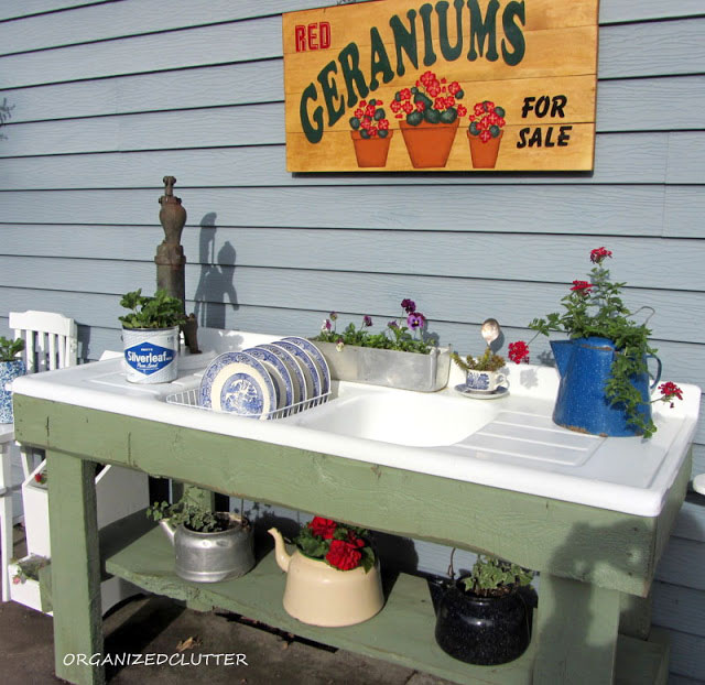 Amazing  inexpensive and inspiring DIY potting bench ideas to get you in the mood for