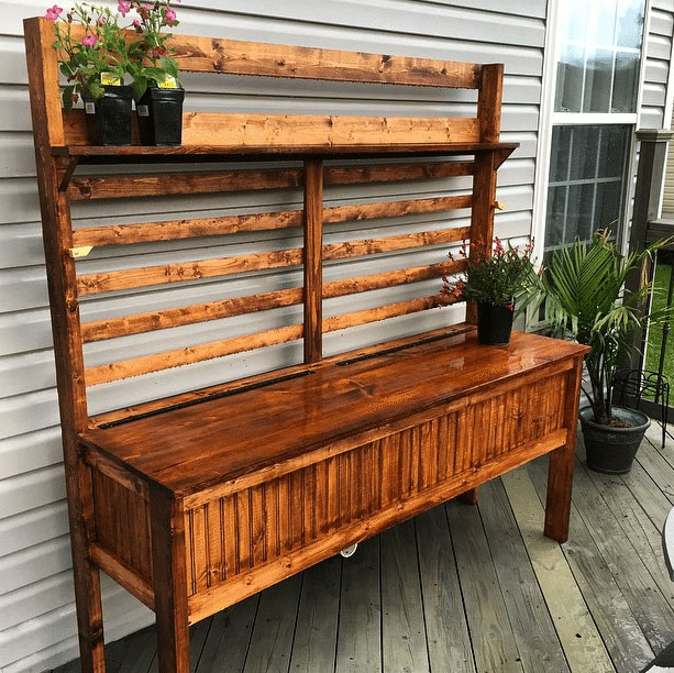 diy potting bench ideas house of hawthornes