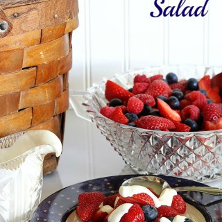 Yum! This quick and easy summer mixed berry salad with sour cream honey dressing will be the perfect healthy side dish for your next barbecue or picnic!