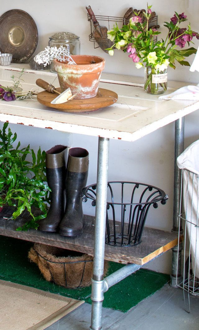 DIY Potting Bench Ideas - House of Hawthornes