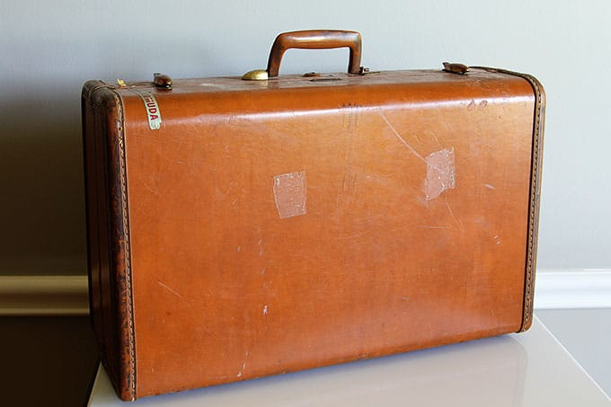 How to clean a vintage suitcase house of hawthornes - Vintage suitcase ...