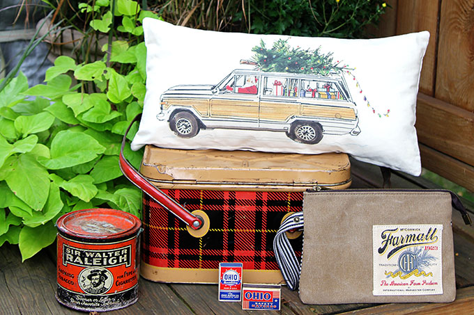 Finds from the Country Living Fair in Ohio including a vintage Nesco picnic tin and other vintage, antique and handmade items.