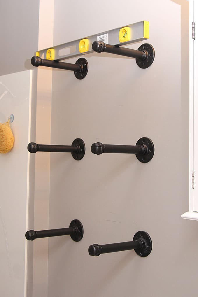 Diy Industrial Pipe Shelves House Of Hawthornes