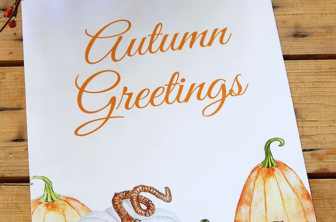 Free Fall Printable: With Watercolor Pumpkins