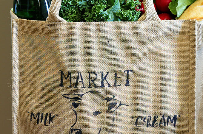 How To Stencil A Farmhouse Market Bag