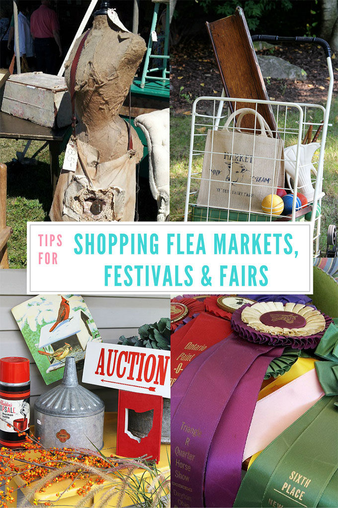 Tips for shopping flea markets, festivals and fairs for antiques and collectibles. When to go, how to prepare and how to haggle gracefully.
