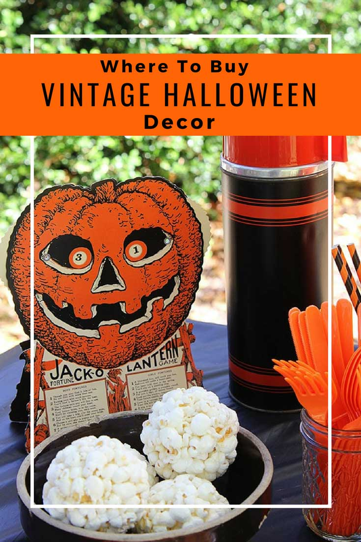 Where to buy vintage looking Halloween decor online!