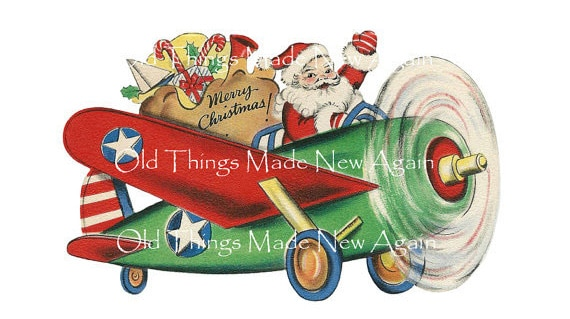 Vintage Christmas image downloads from Old Things Made New Again on etsy