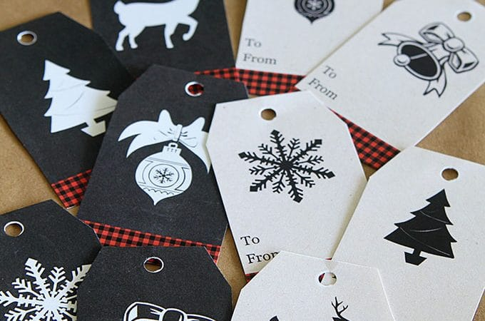 Buffalo Check Gift Tags Free Printable